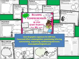 A Growing Bundle of Reading Comprehension Graphic Organisers for Any Text IB PYP