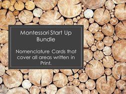 Montessori Bundle of Nomenclature Cards (21 Sets) 100+ pages!