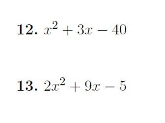 Factorising quadratics worksheet no 4 (with solutions)