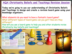 GCSE Christianity Revision AQA (board games)