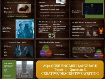 AQA 8700 English Language - Paper 1 - Question 5 - Descriptive Movements