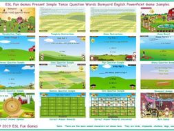 Present Simple Tense Question Words Barnyard English PowerPoint Game