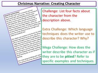 Narrative - Creating A Character