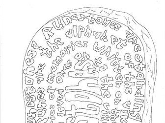 What are Viking Runestones? (History) Colouring Page