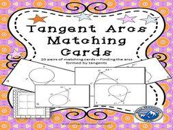 Arcs of Tangents Matching Card Set
