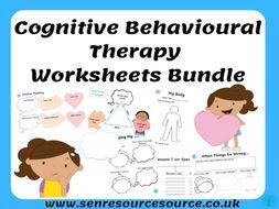 Cognitive Behavioural Therapy Worksheet Bundle