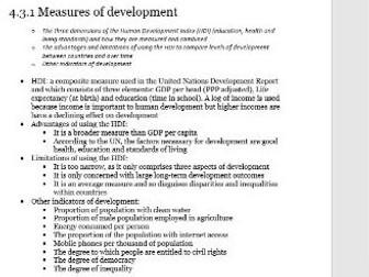 Edexcel A-level Economics Unit 4.3 Emerging and developing economies