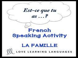 GCSE FRENCH: LA FAMILLE French Speaking Activity: Est-ce que tu as déjà…?