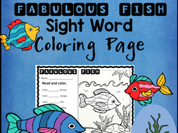 Fabulous Fish Color the Word Activity Sheet *Editable*
