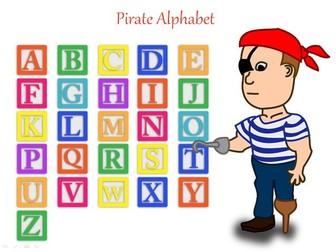 ESL Pirate Alphabet - Perfect for talk like a pirate day + Pirate Writing Prompts+ 31 Teaching Tasks
