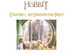 The Hobbit (J. R. R. Tolkien) - Chapter 1 - NO PREP ACTIVITIES, ANSWERS + GUIDE