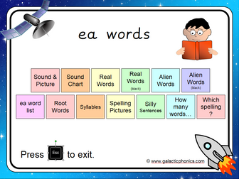 The 'ea' (long e) Phonics PowerPoint