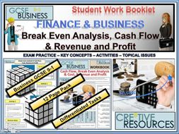 Finance and Business ( Break Even Analysis , Cash Flow , Revenue and Profit )