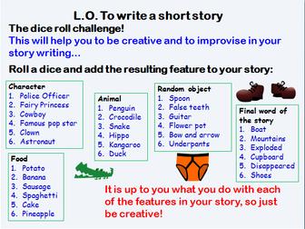 year 2 creative writing ideas