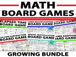 Maths Board Games Growing Bundle