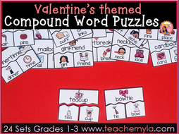 Valentine's Day Compound Word Puzzles