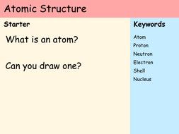 KS3 Atoms - Lesson 3 - Atomic Structure