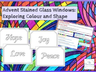 Advent Stained Glass Windows: Exploring Colour and Shape