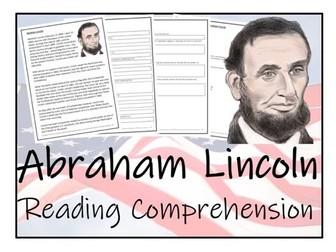 UKS2 History - Abraham Lincoln Reading Comprehension Activity