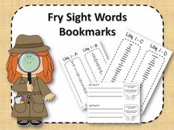 Fry Sight Word Bookmarks - 1 to 1000 - Detectives