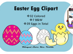 FREE Easter Eggs Spring Clipart Bilingual Stars Mrs. Partida Clips