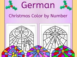 German Christmas Color by Number
