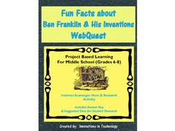 Fun Facts about Benjamin Franklin - Internet Scavenger Hunt