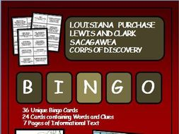 Reading Passages and Bingo - The Lewis and Clark Expedition; Sacagawea
