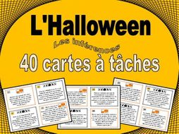 French Halloween Inference Task Cards