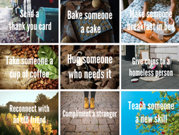 Acts of Kindness Poster or Cards