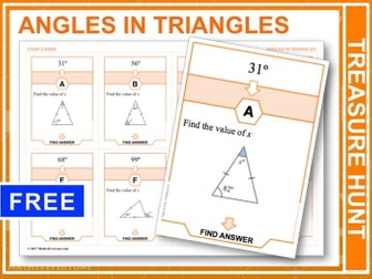 Angles in Triangles (Treasure Hunt)