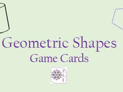 Geometry Shapes Game Cards (40 cards)