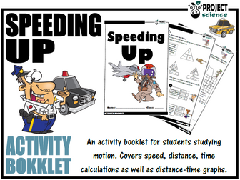 Speed, distance & time Activity Booklet [Speeding Up]