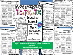 Tic Tac Toe Inquiry Based Math Homework