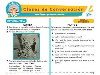 Ciencias económicas - Spanish Speaking Activity