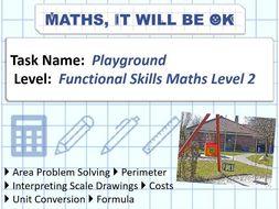 FS Maths Level 2 Scale - Playground - Exam Style