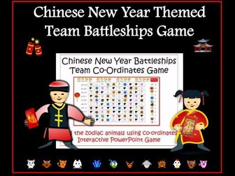 Chinese New Year Zodiac Co-Ordinates Game