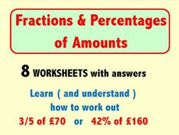 Fractions and Percentages of Amounts