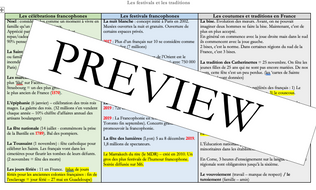 French - A level - Festivals - mat (statistics - facts - questions) speaking exam