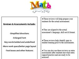 Grade 4, Math Module 3 REVIEW & ASSESSMENT w/Ans keys (printables & Smart Board)