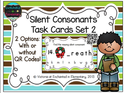 Silent Consonants Task Cards Set 2
