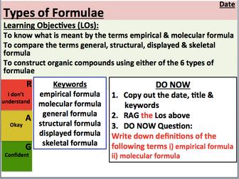 KS5 Chemistry: Types of Formulae (AS Level)