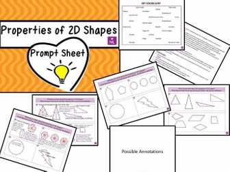 Properties of 2D Shapes Prompt Sheet