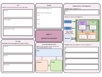 OCR J276/J277 Revision Mats/Knowledge Organisers