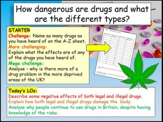Drugs + Substance Abuse Health PSHE