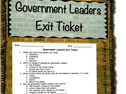 Government Leaders Exit Ticket Assessment