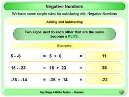 Negative Numbers KS4