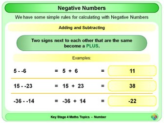 Negative Numbers KS4