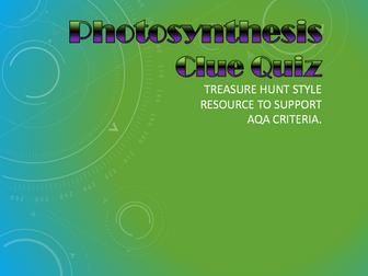 Photosynthesis Clue Hunt Quiz