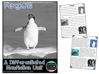 Differentiated Nonfiction Unit: Penguins